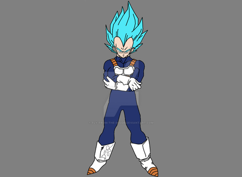 Super Saiyan Blue Vegeta by Fly-From-The-Inside