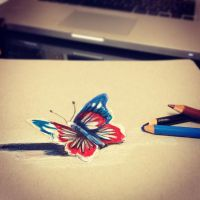 Don't Fly Away (3D Drawing) by Lucky978