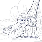 The Beaver And The Tree (lineart) by KP-ShadowSquirrel