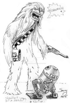 R2-D2 vs Choubaka by michelsoucyjunior