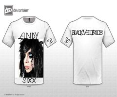 Black Veil Brides : Andy Sixx T-Shirt Design by CJG9774