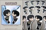 Attack on Titan kissing keychains by neofox