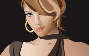 jessica alba by bluemo0on