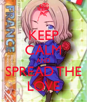keep calm and spread the love by lisabean