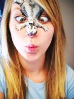 Squirrel Facepaint by KyleeGreider