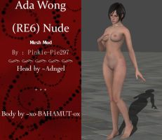 Ada Wong (RE6 Nude Mesh Mod) [DL] by Pinkie-Pie297