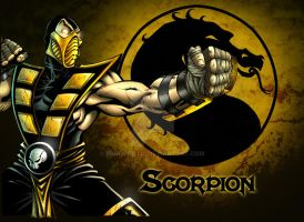 Scorpion Color pin up by BrunoCotic