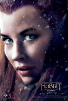 Colorful Tauriel - The Hobbit 3 Poster by Elisa-Gallion