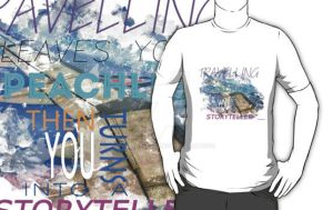 Travelling quote T-shirt by Subspeed79