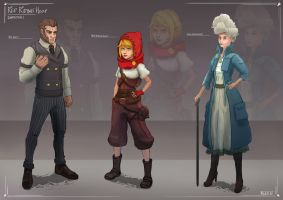 Victorian Red Riding Hood Characters by Sarqful