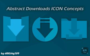 Abstract Downloads Icon Concepts - 3 HD Icons by dAKirby309