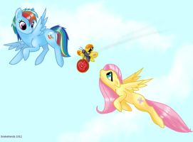 Ponies find Adventure Time paralyzed butterfly by snakehands