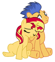 Other image of Flash Sentry and Sunset Shimmer by 3D4D