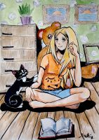me and kitty meow by DariaGALLERY