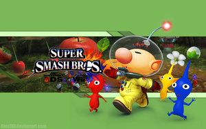 Olimar Wallpaper - Super Smas Bros. Wii U/3DS by AlexTHF