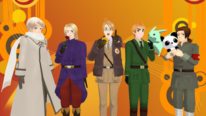 MMD Hetalia - The Allied Forces by PikaBlaze