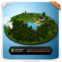 Animals, Plants and Farm - Isometric Map Icons by templay-team