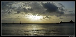 St Lucia Sunset by DarthIndy