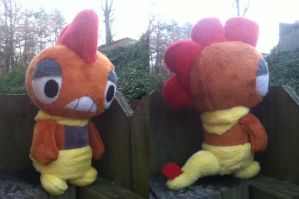 Scrafty Pokedoll by Glacdeas