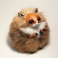 Red Fox Furry Creature by RamalamaCreatures