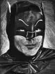 Black and White Batman by frecklesmile