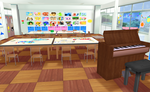 MMD Kindergarten stage by amiamy111