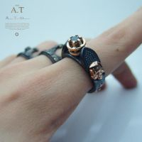 Nigrum adamas ring 1 - ring gold $666 by tivodar66