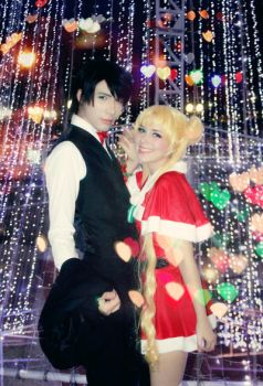 XMAS LOVE - Sailor Moon Usagi and Mamoru Cosplay by SailorMappy