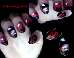 Rocky Horror Nails by L-Rickman-Depp