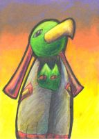 Xatu Sunset ACEO by Zalcoti