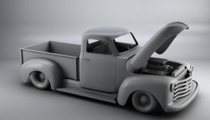52 Chevy truck 3d model AO by bewsii