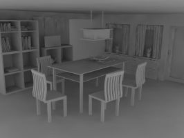 Clean Kitchen WIP by Qubsik