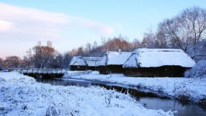 Winter in the village 1 by mysterious-one