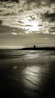 Sepia Style Overlooking Trecco Bay Beach Oct 2012 by welshrocker