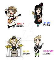 K-ON chibis by Esuka