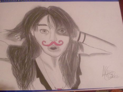Pink moustache :) by ilovefrenchfries13