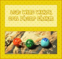 Wind Waker Cell Phone Charm by querulousArtisan
