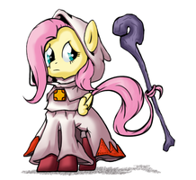 Pony Fantasy 3: The Shy White Mage by Nun2artzy