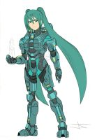 Miku Chief (Base Colors) by ArtinScott
