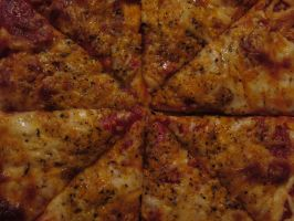 Evenly Sliced Pizza by Toderico