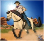 A Cowboy and A Horse by Sapphiresenthiss