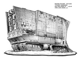 Star Wars Sandcrawler : Back by toymaker-cl