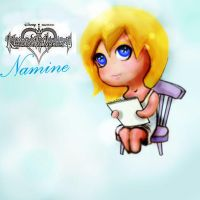 Chain of Memories chibi Namine by Allaphaidole