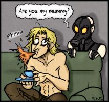Liquid Snake watches Dr. Who by Inonibird