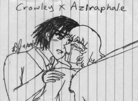 Impulse Art - Crowley x Aziraphale by KehXKeova