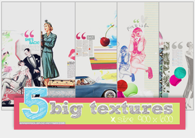 5 Big Retro textures by BarbraGolba