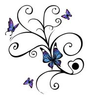 Butterflies tattoo design by J35K