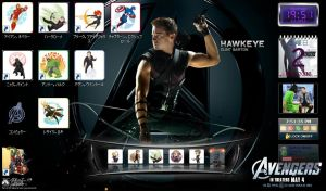 chibi hawkeye Icons for windows by BeePrimeTF