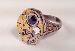 Gold Plated Steampunk Ring by SteamDesigns