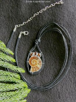 Necklace with Ammonite for sale- SOLD! by Zorza-6